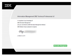 IBM Information Management DB2 Technical Professional