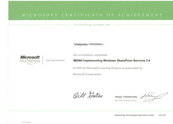 M5060 Implementing Microsoft Windows SharePoint Services 3.0