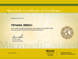 Microsoft Certified Technology Specialist - SharePoint 2010, Application Development