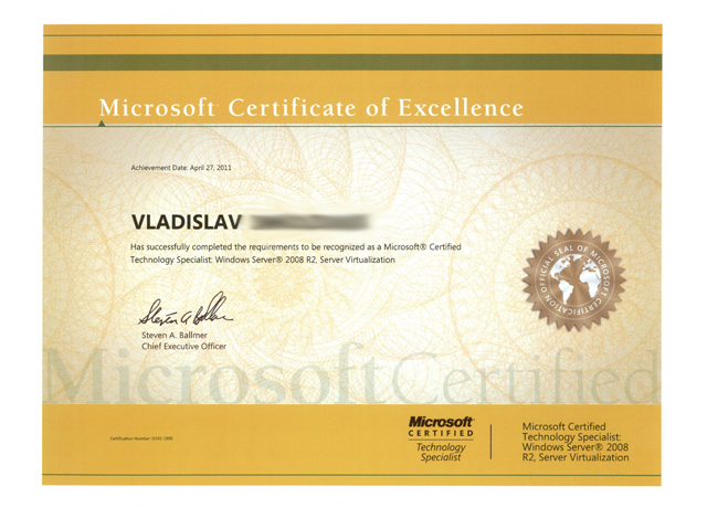 microsoft certified technology specialist windows server 2008 r2 server virtualization