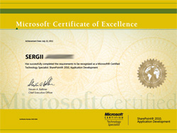 Microsoft Certified Technology Specialist - Microsoft SharePoint 2010, Application Development