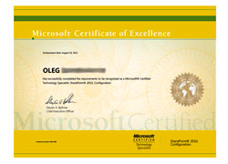 Microsoft Certified Technology Specialist: SharePoint 2010, Configuration